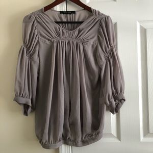Zara basic sheer blouse